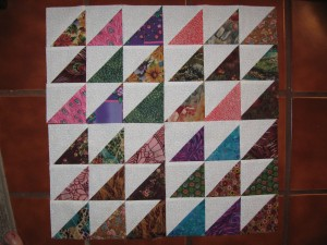 Karen B's 4 Scrappy Triangle Blocks