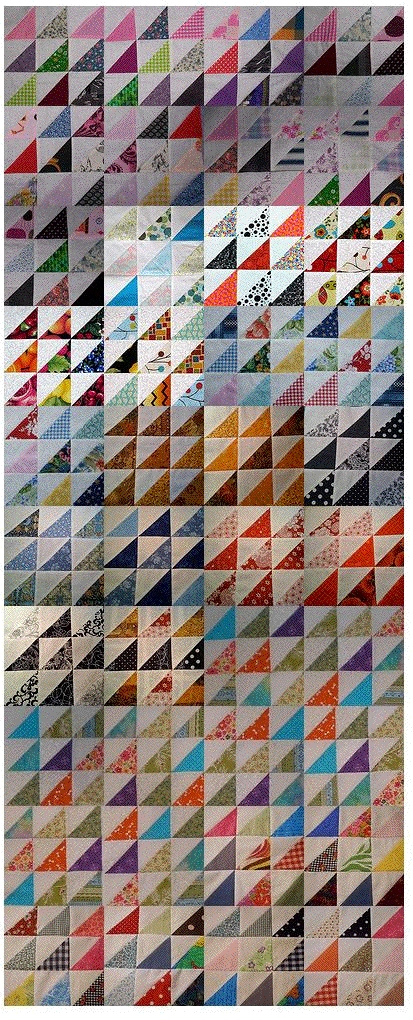 Scrappy Triangles Virtual Quilt