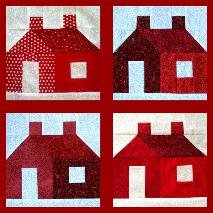 Virtual 4 block quilt