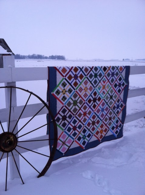 Julie P's Quilt in the Snow