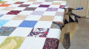 Clamping the Quilt Sandwich to the Work Table