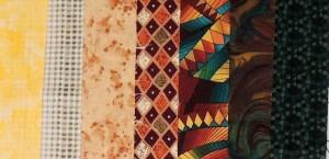 7 Fabrics for 9 blocks