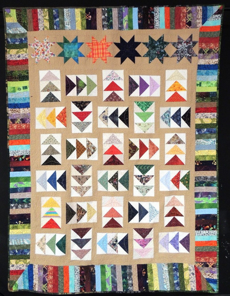 Sophie's scrappy geese quilt, Finding my Way