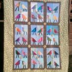 Tall birds quilt done