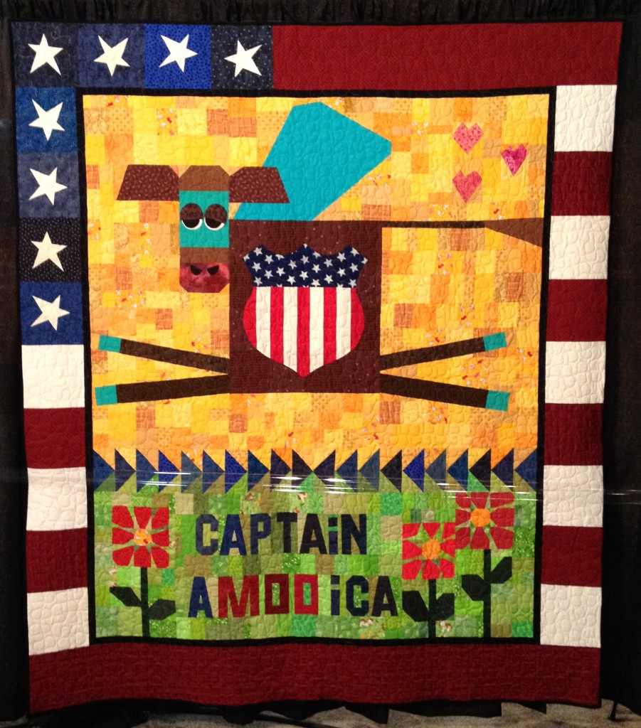 Julie P's Quilt Captain A-MOO-ica