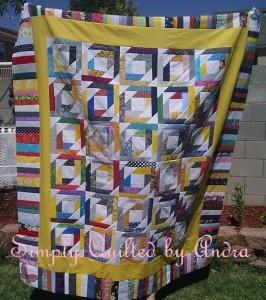pineapple scrap quilt