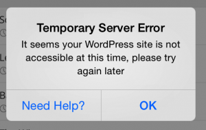 Wordpress App Error