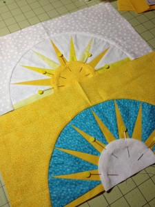 fun with the sun, ready for machine applique