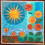 Spokes blocks received and a small quilt with Block Lotto influence
