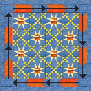 Star-Chain-Arrow-Quilt