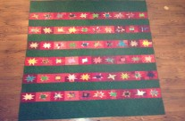 completed Red Stars quilt from 2013