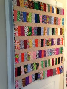 wonky strip quilt