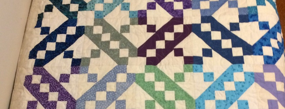 Finally a completed quilt from Jacob Ladder Block Lotto win 2012
