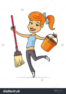 happy-young-woman-cleaning-and-dancing-with-mop-an-bucket-vector-cartoon-illustration-270047714