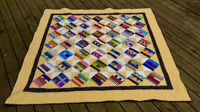 Strip quilt finished at last