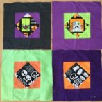 Four Halloween blocks for donation