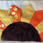 Two Dresden Sunflower Blocks
