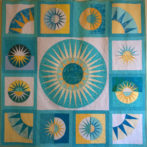 A finished quilt – June 2014 blocks