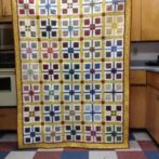 Finished plaid blocks quilt