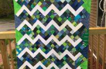 Quilt top of May Rail Variations blocks