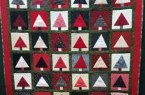 Red Forest Trees Quilt